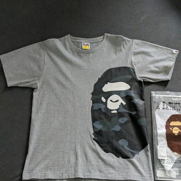 c508316e Bape Shirts | Camo Side Big Ape Head Tee | Poshmark